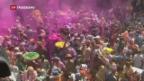 Video «Indien feiert das Frühlingsfest «Holi»» abspielen