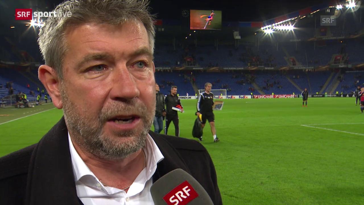 Fussball: Europa League, 3. Spieltag, Basel - Belenenses, Interview mit Urs Fischer