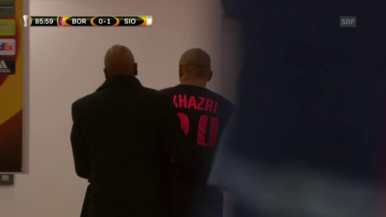 Fussball: Khazris Platzverweis gegen Sion