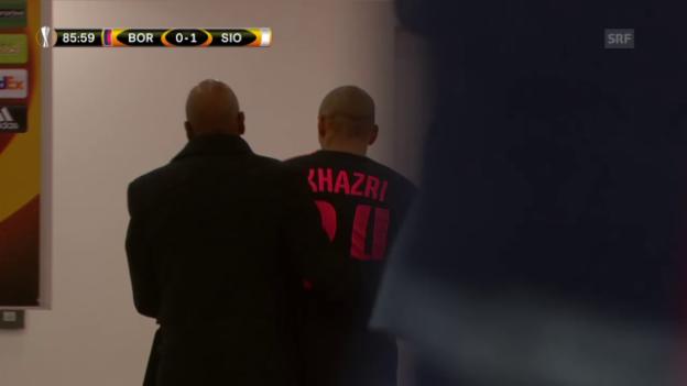 Video «Fussball: Khazris Platzverweis gegen Sion» abspielen