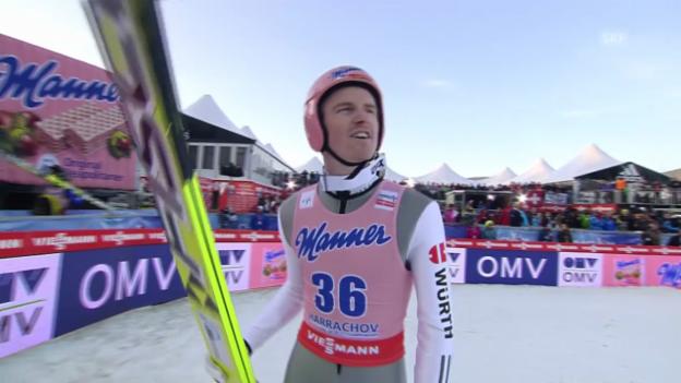 Video «Skispringen: Skiflug-WM, 1. Sprung von Severin Freund («sportlive», 14.03.2014)» abspielen