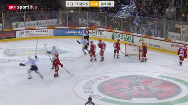 Video «Ambri sichert sich dank Sieg in Langnau den Ligaerhalt» abspielen