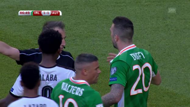 Video «Erst geführt, dann gezittert: Österreich mit 1:1 in Irland» abspielen