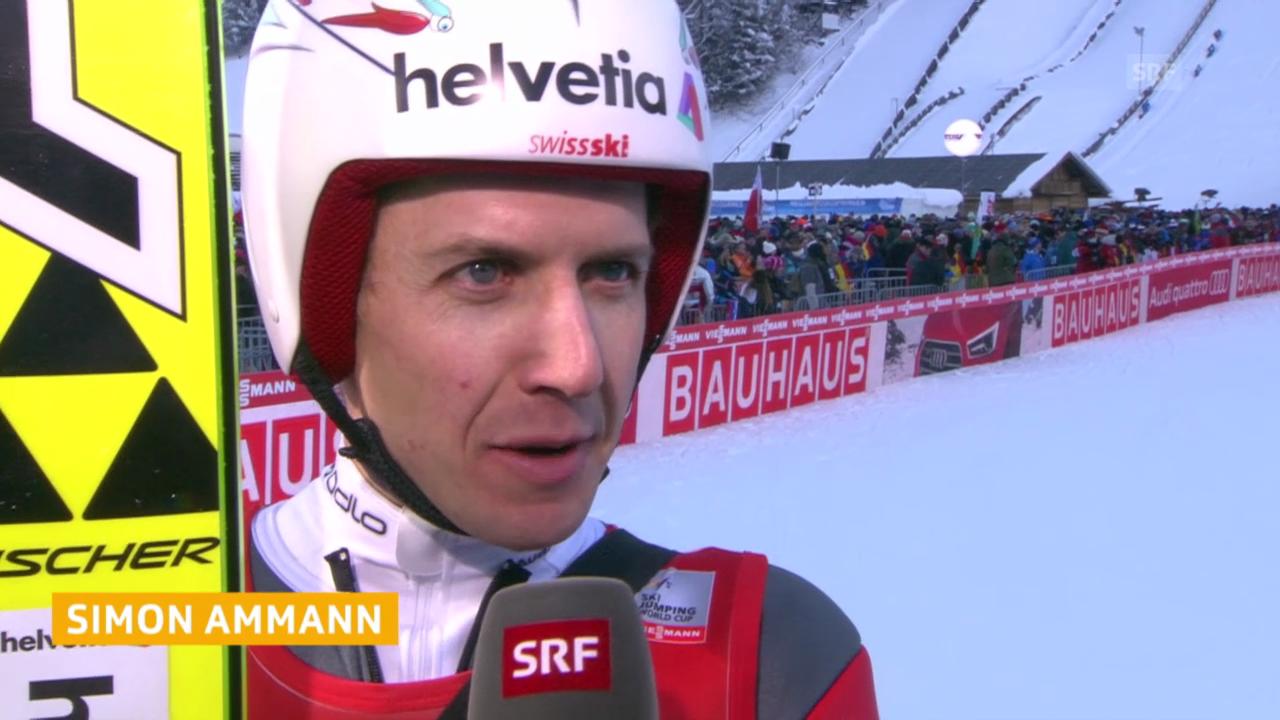 Skispringen: Interview mit Simon Ammann nach dem 1. Durchgang
