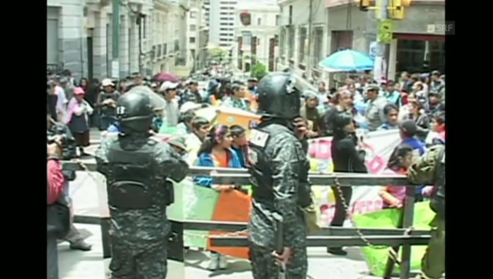 Kinderprotest in Bolivien