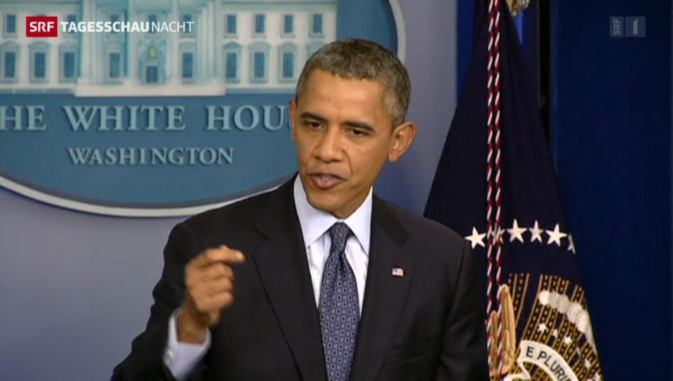 Obama: «Die Glaubwürdigkeit der USA steht auf dem Spiel»