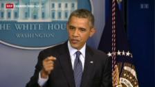 Video «Obama: «Die Glaubwürdigkeit der USA steht auf dem Spiel»» abspielen