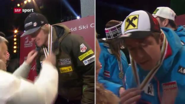 Video «Ski_WM: Das Duell Ligety - Hirscher» abspielen