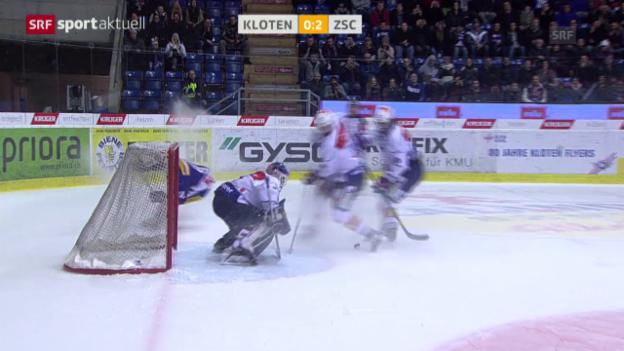Video «Eishockey: NLA Kloten - ZSC Lions («sportaktuell»)» abspielen
