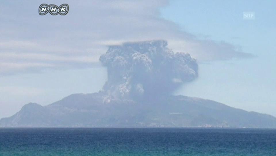 Vulkanausbruch auf der Insel Kuchinoerabujima (unkommentiert)