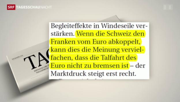 Video «Folgen des SNB-Entscheids» abspielen