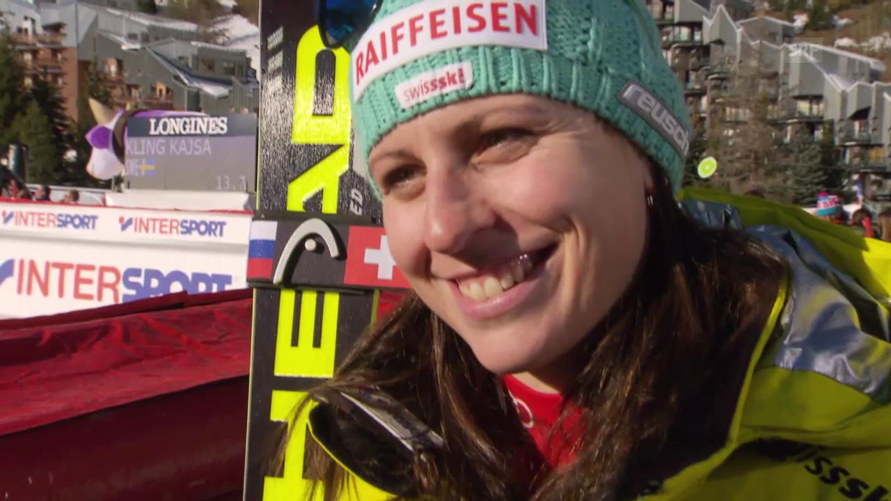 Ski Alpin: Abfahrt Frauen in Val d'Isère, Interview mit Marianne Kaufmann-Abderhalden (21.12.2013)