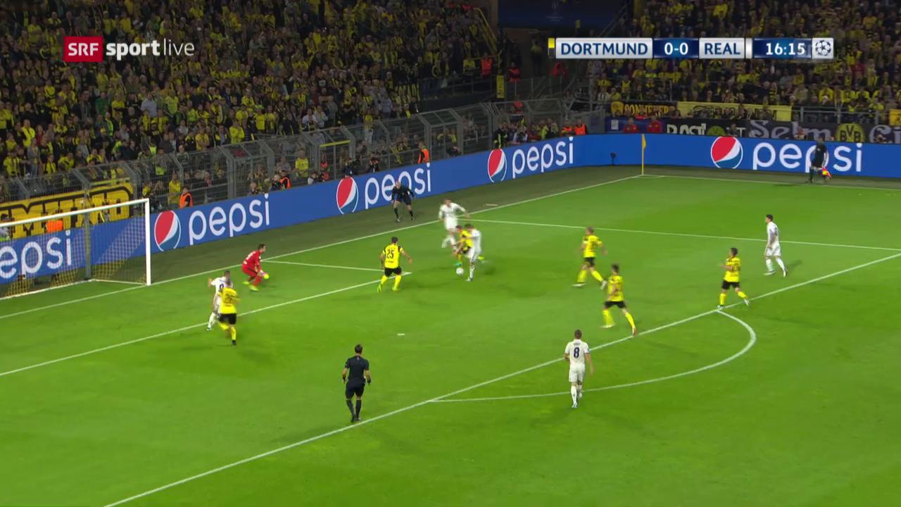 Das 1:0 von Real Madrids Cristiano Ronaldo gegen den BVB