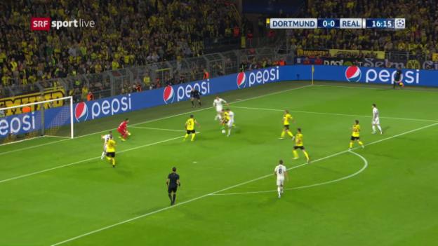 Video «Das 1:0 von Real Madrids Cristiano Ronaldo gegen den BVB» abspielen