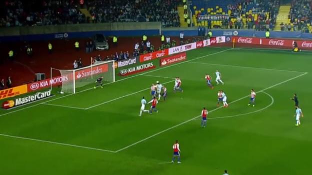 Video «Fussball: Copa America, Highlights Argentinien - Paraguay» abspielen