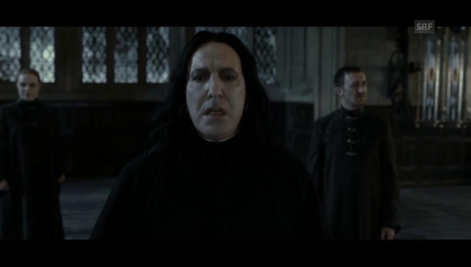 Als Professor Severus Snape wurde Rickman weltberühmt