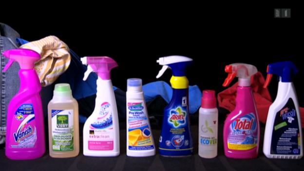 Video «Nur wenige Fleckenentferner übertrumpfen ein gutes Waschmittel» abspielen