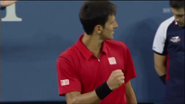 Video «Matchbälle von Djokovic, Raonic und Gonzalez (ohne Kommentar)» abspielen