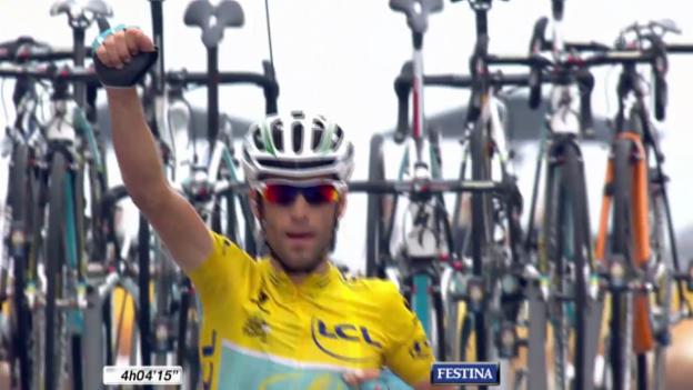 Video «Rad: Tour de France, 18. Etappe, entscheidende Szenen» abspielen
