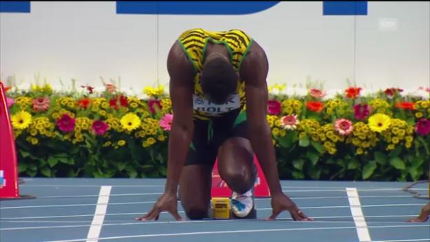 Video «100m-Vorlauf mit Usain Bolt («sportlive»)» abspielen