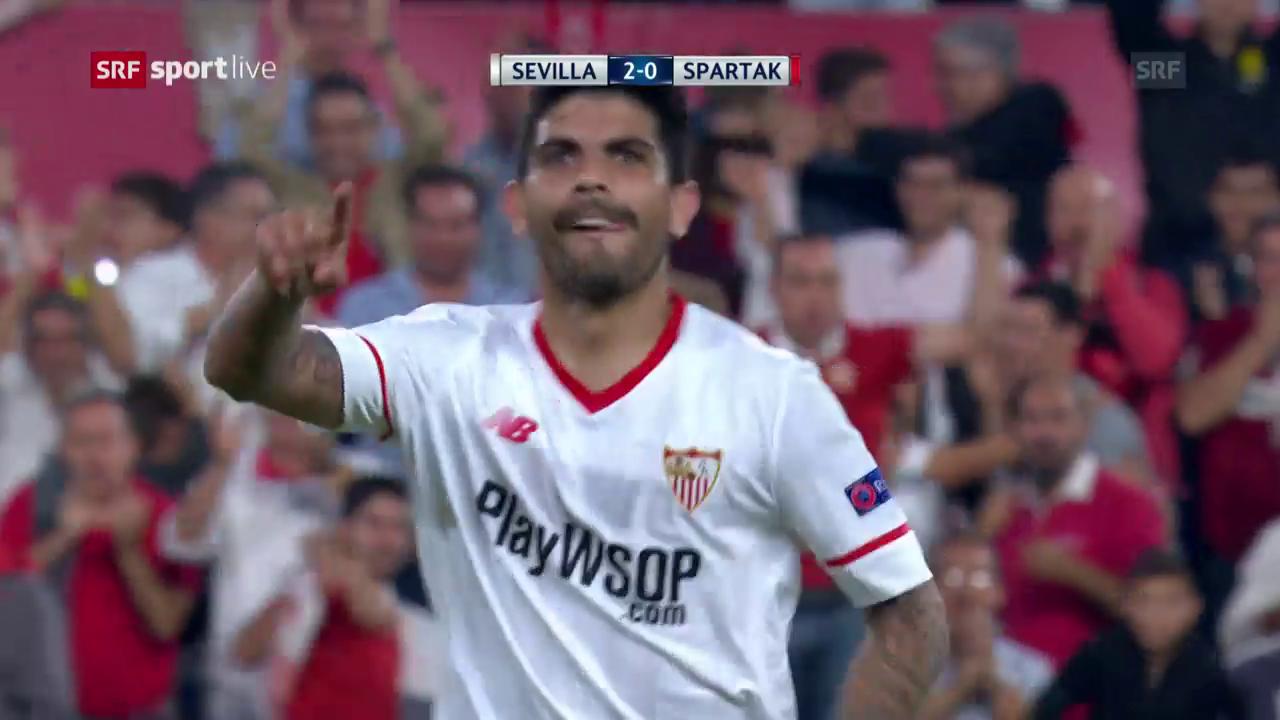 Sevilla feiert Heimsieg gegen Spartak Moskau