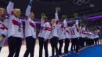 Video «Eishockey Frauen: Medaillenübergabe Schweiz (sotschi direkt, 20.02.2014)» abspielen