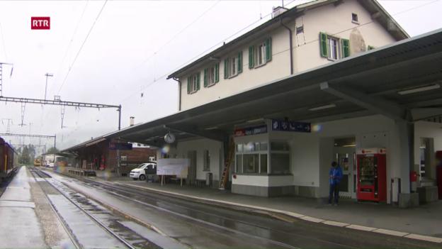 Laschar ir video «Emprima badigliada per la nova staziun a Glion»