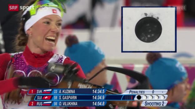 Video «Biathlon: Sprint Frauen» abspielen
