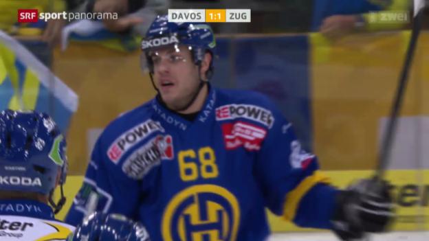 Video «Eishockey: NLA, Davos - Zug» abspielen