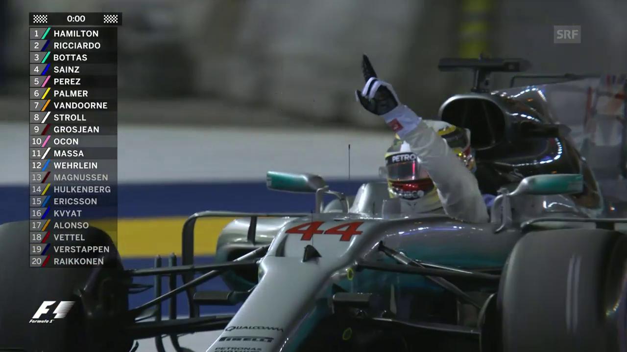 Zweikampf, Rückschlag, Wende: Die Saison von Hamilton im Video