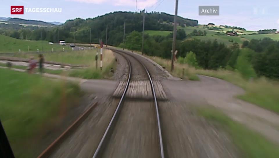 Über 1000 ungesicherte Bahnübergänge