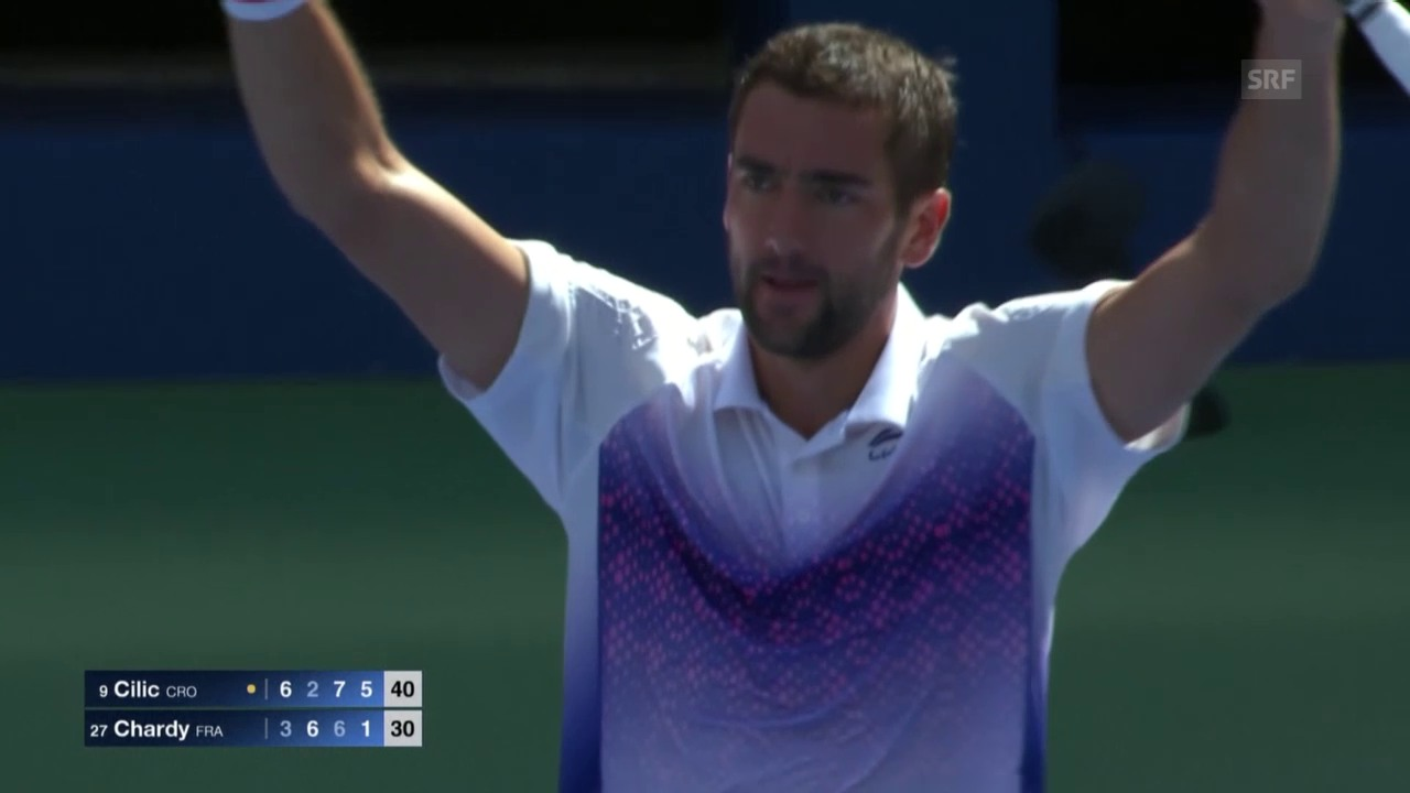 Tennis: US Open 2015, Männer, Achtelfinal, Marin Cilic - Jeremy Chardy