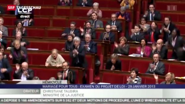 Video «Debatte über Homo-Ehe in Frankreich» abspielen