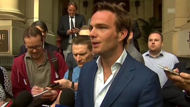 Video «Formel 1: Statement Giedo van der Garde nach Sauber-Urteil» abspielen