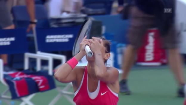 Video «Tennis: US Open, Halbfinal Williams - Vinci: Der Matchball» abspielen