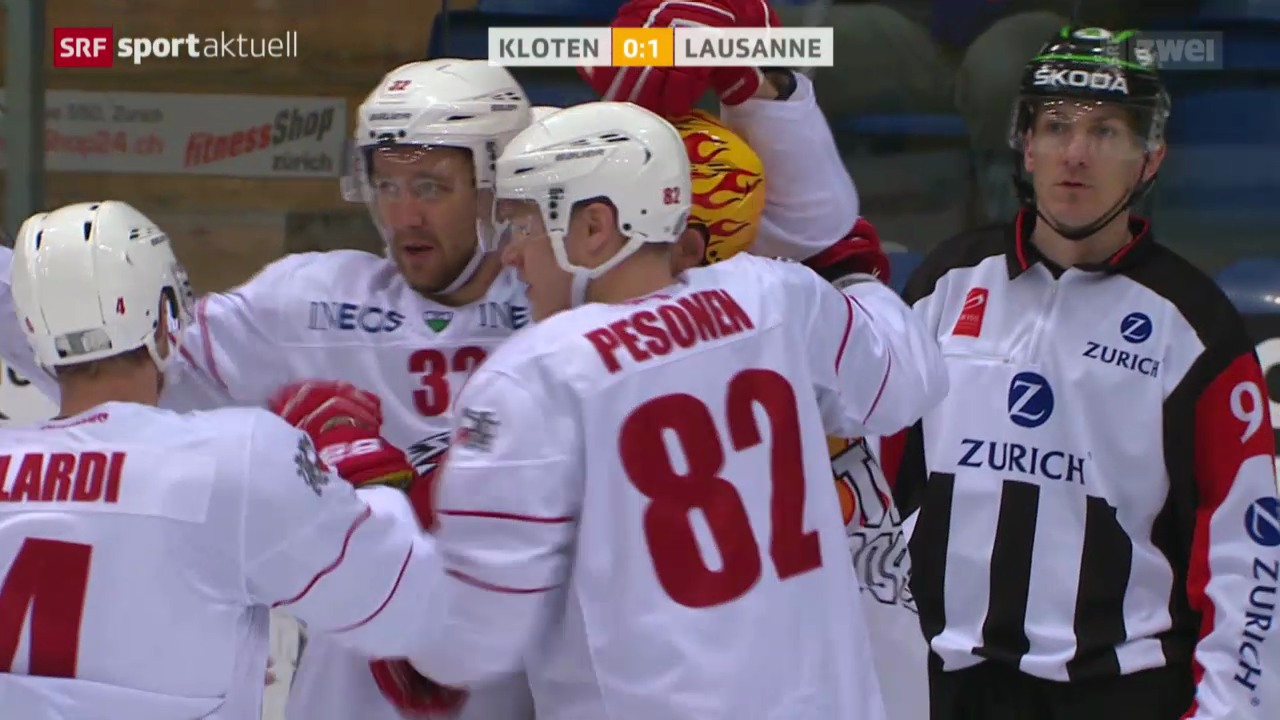 Eishockey: Kloten - Lausanne