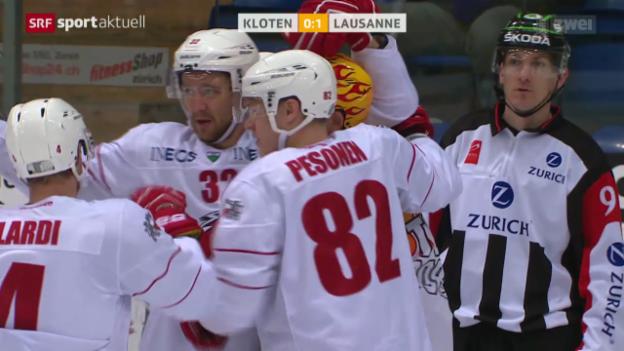 Video «Eishockey: Kloten - Lausanne» abspielen