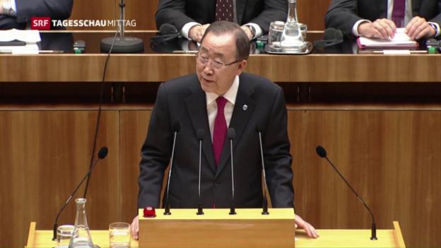 Video «Ban Ki-moon kritisiert Österreich» abspielen