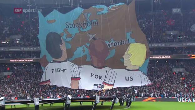 Video «Besiktas lässt Olympiakos trotz Unterzahl keine Chance» abspielen