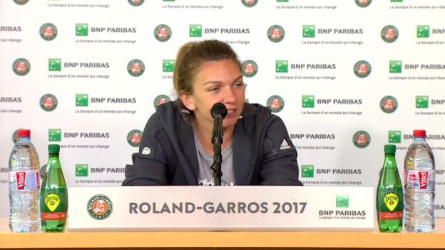 Video «Simona Halep über die Nummer 1» abspielen