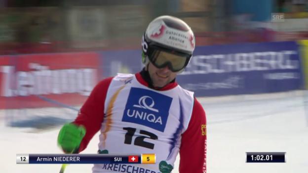 Video «Skicross: WM, Qualifikation Niederer» abspielen