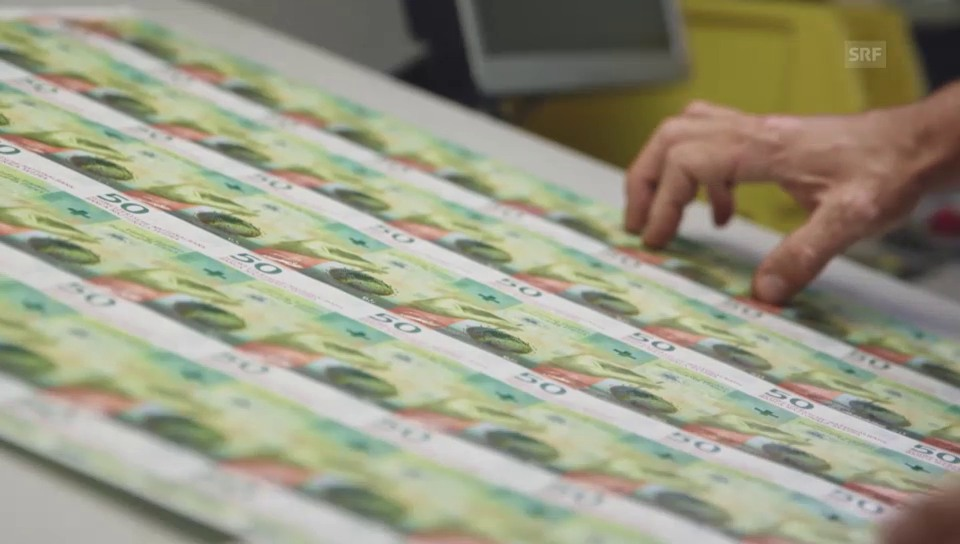 Der Druckprozess der neuen Banknoten