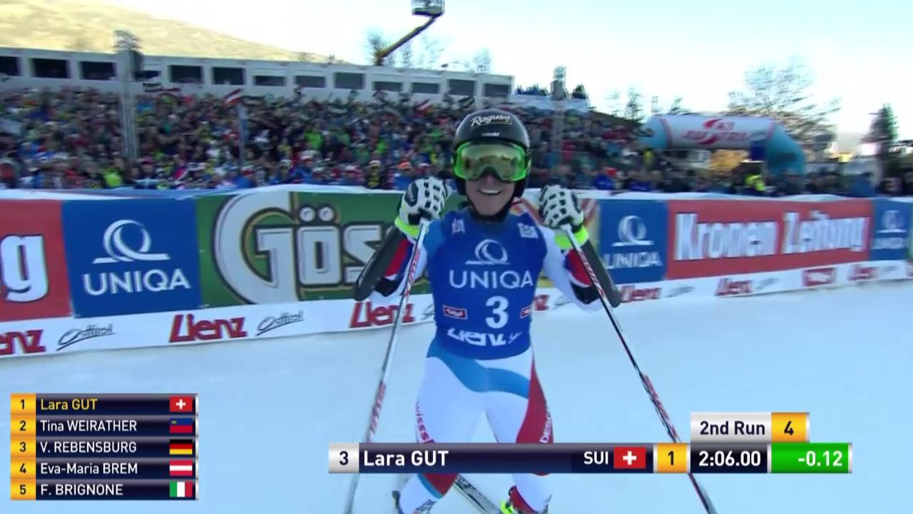 Ski Alpin: 2. Lauf Lara Gut