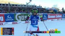 Video «Ski Alpin: 2. Lauf Lara Gut» abspielen