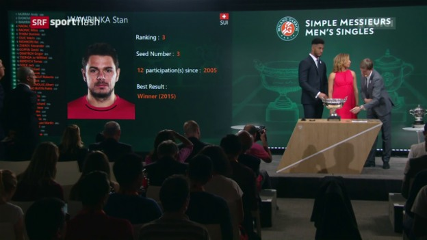 Video «Qualifikant für Wawrinka, Spanierin für Bacsinszky» abspielen