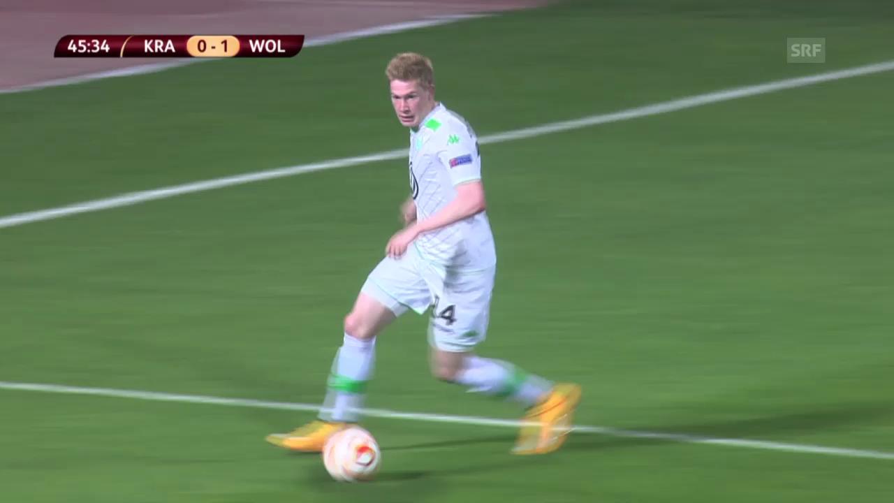 Fussball: EL, Krasnodar-Wolfsburg