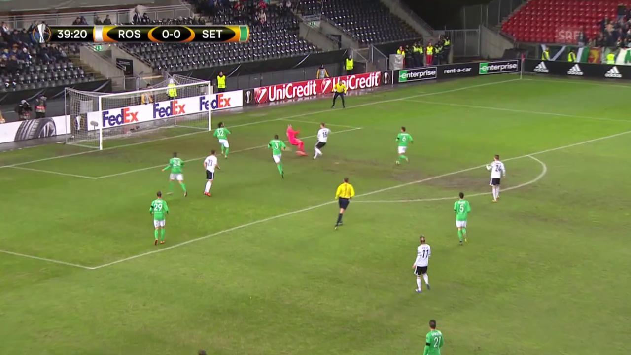 Fussball: EL, Rosenborg - St. Etienne