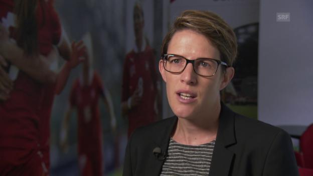 Video «Schild: «400 Stellenprozent, die sich voll um den Frauenfussball kümmern»» abspielen