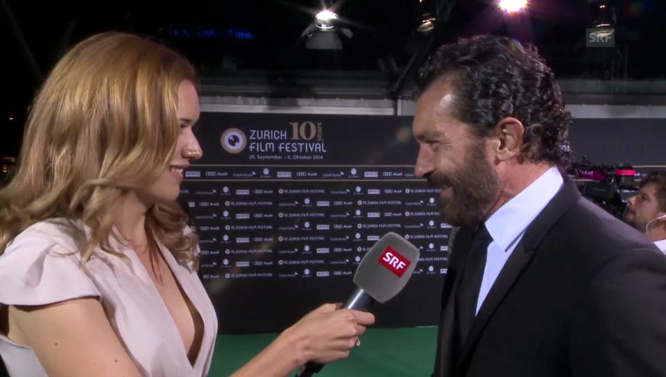 Antonio Banderas im Gespräch mit Sara Hildebrand
