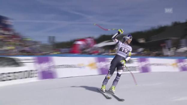 Video «Ski alpin: Weltcup Frauen, Super-G Garmisch, Fahrt Vonn» abspielen